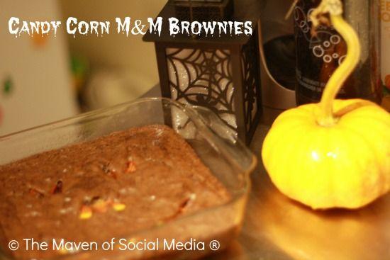 Candy Corn M Brownies #SocialFabric #Cbias