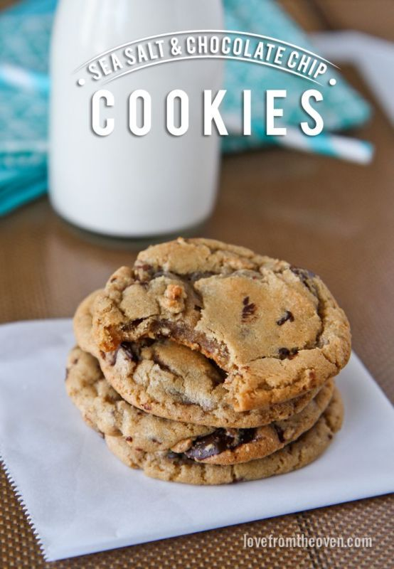 Sea Salt Chocolate Chip Cookie Recipe.  This is pretty much the perfect cookie recipe!