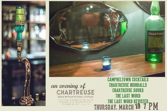 Tonight! A whole evening in homage to the magic green elixir: Chartreuse. Come along. All welcome.  via @LastWordSaloon