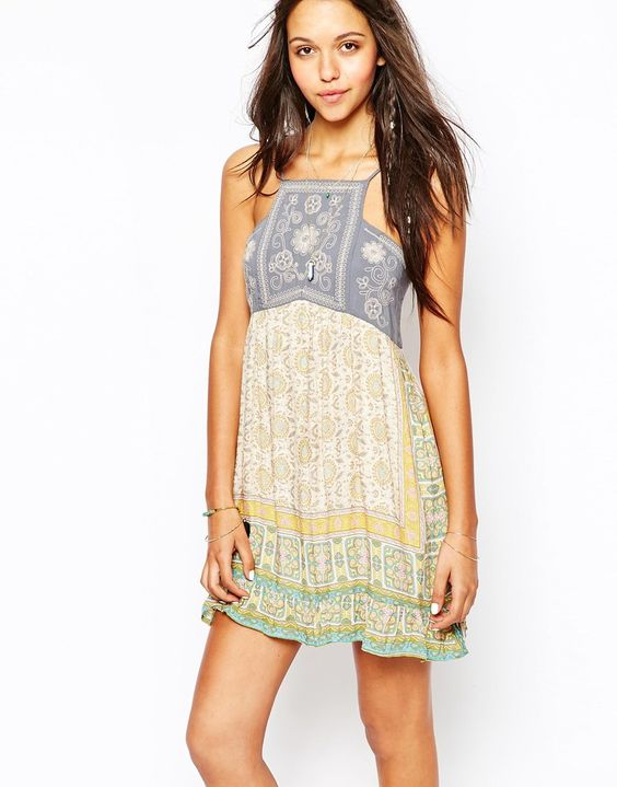 Anna Sui For O'Neill Love Birds Beach Dress
