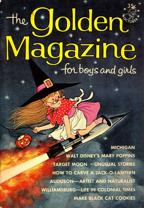 the golden magazine halloween themed cover from october 1964 vintage kids magazines - Halloween Magazines