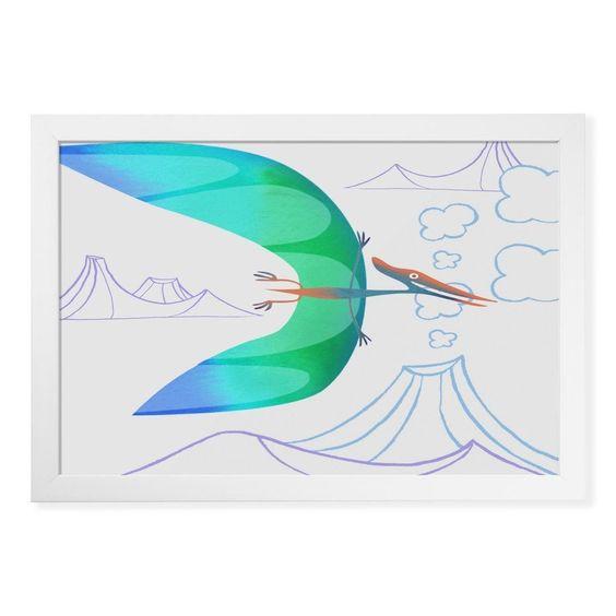 Pterodactyl over volcanoes