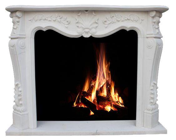 Elegante Kaminmaske aus weißem Marmor |Luxus pur für Ihr Zuhause | Modell: ZO210210, SHI-Kaminserie, handgefertigtes Unikat