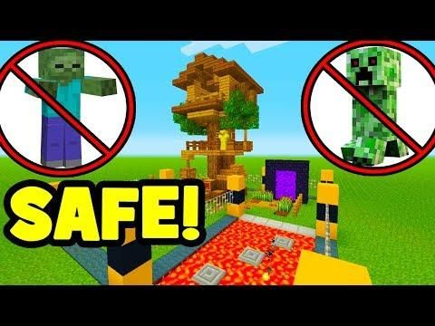 Minecraft Tutorial How To Make A Mob Proof Tree House Minecraft