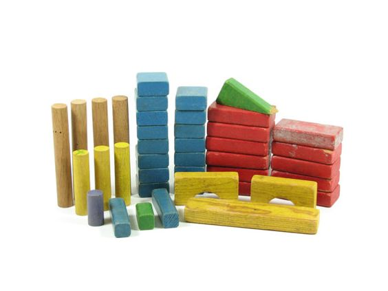 Vintage Wooden Toy Blocks by 4thStreetMarket on Etsy