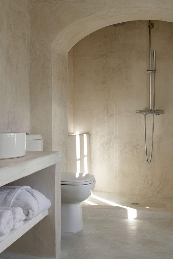 Bad ohne Fliesen Mehr Infos unter wwwfarbefreudelebende - badezimmerwände ohne fliesen