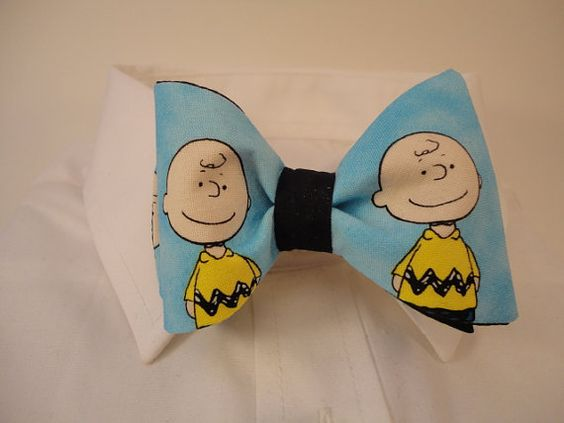 Charlie Brown Fabric Bow Tie by sewfairycute on Etsy, $26.99