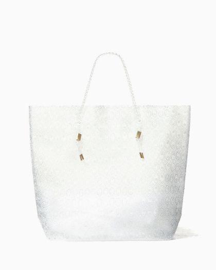Beads Sheet Big Tote - clear