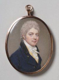 Portrait of Lieutenant Colonel John Wingfield - 1803  Made in England  Artist: John Smart (English, 1742/43 - 1811)  watercolor on ivory  Philadelphia Museum of Art