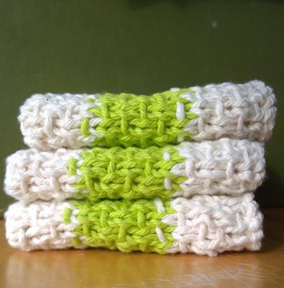 Super Simple Slip Stitch Dishcloth Stitches, Yarns and Patterns