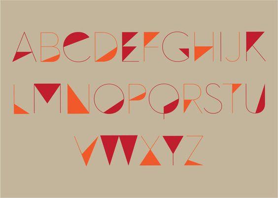 Angular Font by Patrick Tan, via Behance