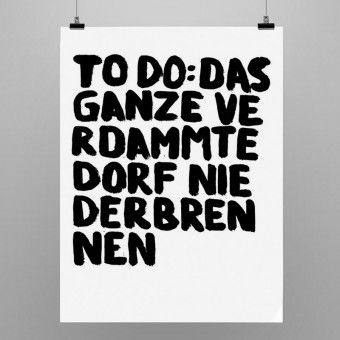 "Uwe Lewitzky Poster ""TODO"""