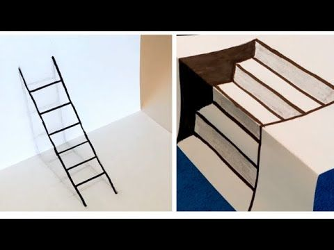How To Draw A 3d Staircase And Ladder Home Decor Decor Staircase