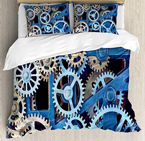 Clock Duvet Cover Set Luxury Soft Hotel Quality 4 Piece Twin Plush Microfiber Bedding Sets Technol Decorative Duvet Cover Microfiber Bedding Bed Duvet Covers