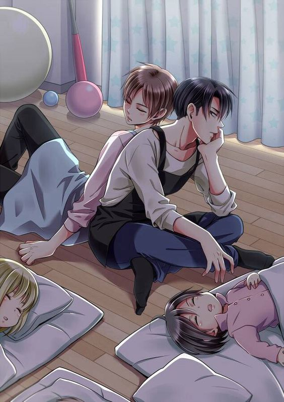 Levi and Eren as caretakers   Attack on Titan: