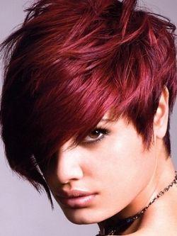 Hair Color : Burgundy