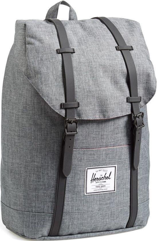 •Website: http://www.cuteandstylishbags.com/portfolio/herschel-supply-co-charcoal-crosshatch-retreat-backpack/ •Bag: Herschel Supply Co. Charcoal Crosshatch 'Retreat' Backpack (FOR MEN)