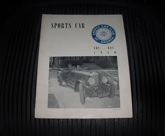 FANTASTIC Rare NOV-DEC 1950 SPORTS CAR Magazine SCCA HARD to FIND Original Issue
