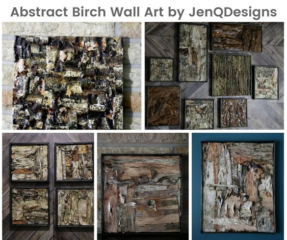 Abstract Birch Wall Art by JenQDesigns