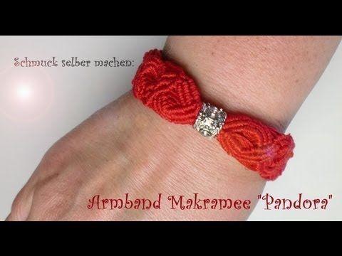 Schmuck selber machen: Armband Makramee [Pandora Stil]