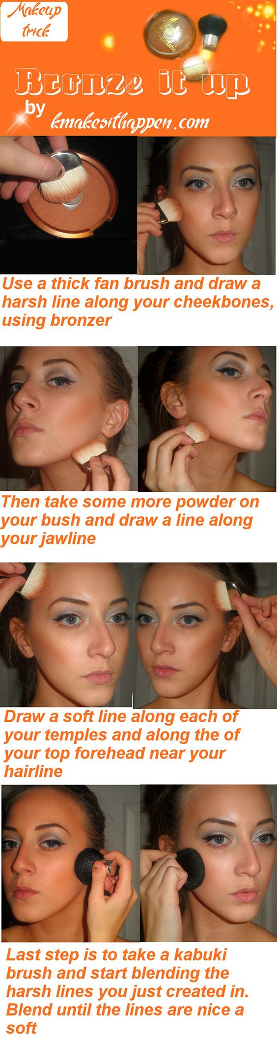 how to apply bronzer tips