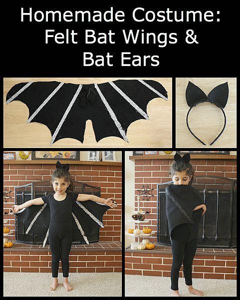 Diy Bat Costume How To Make Felt Bat Wings And A Bat Ear Headband Fun For Halloween Or Dress Up Play Diy Bat Costume Bat Costume Homemade Halloween Costumes