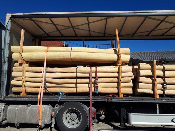 kamion tételű kalodás akác rúdfa