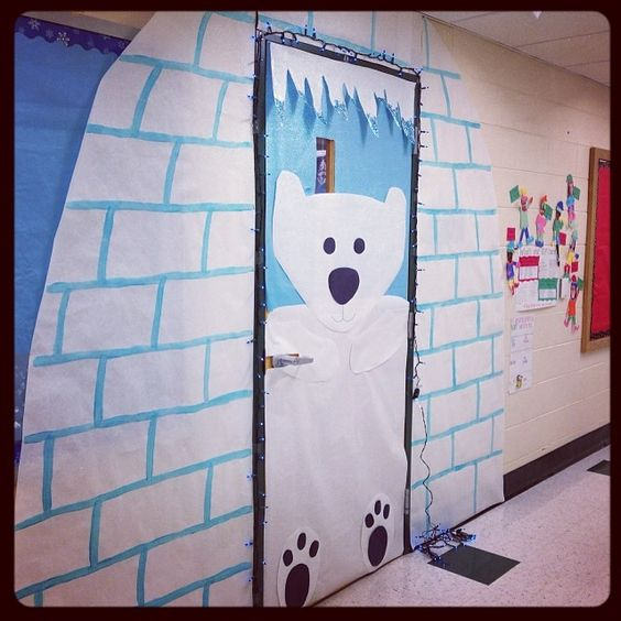 Classroom Door Decor For Winter ~ My winter classroom door christmas pinterest for