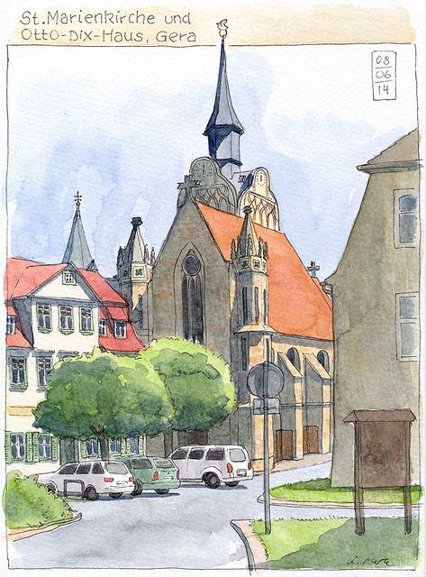 St.Marienkirche, Gera by KatrinMerle, via Flickr