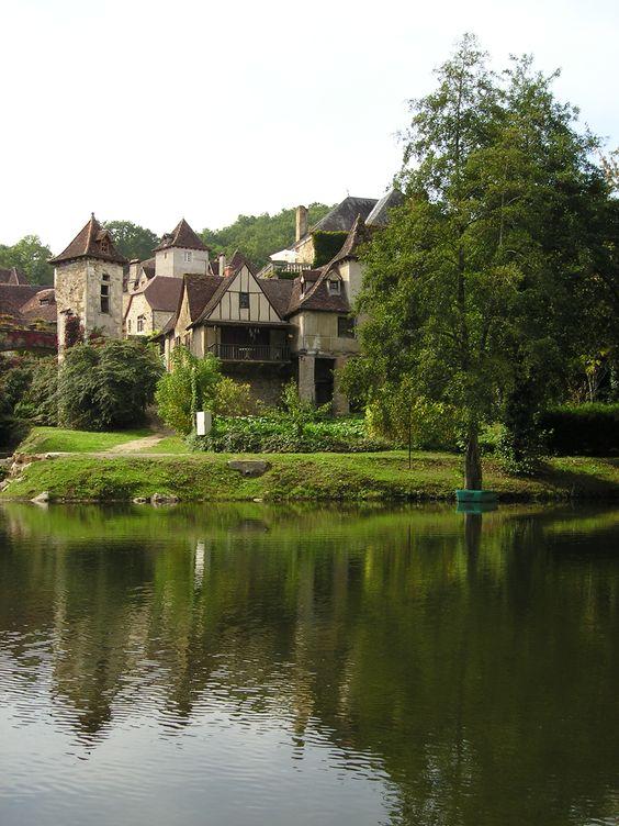 Carennac, un village ancien dans le Lot, France