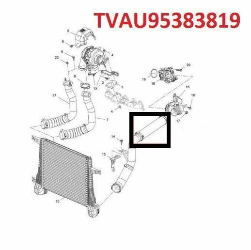 INTERCOOLER TURBO HOSE PIPE FOR VAUXHALL OPEL ANTARA CHEVROLET CAPTIVA 2.2 CDTI