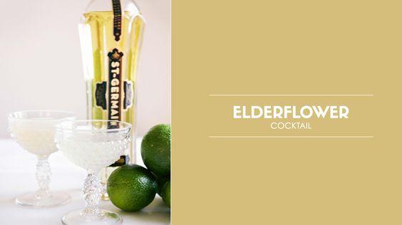 Elderflower Cocktail // cocktails, weddings, drinks, recipes
