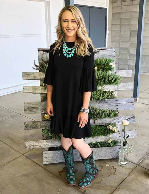 Cowboy boot outfits, Dresses