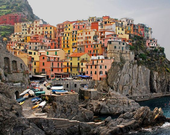 Manarola, Italy  Wouldn't mind visiting here.