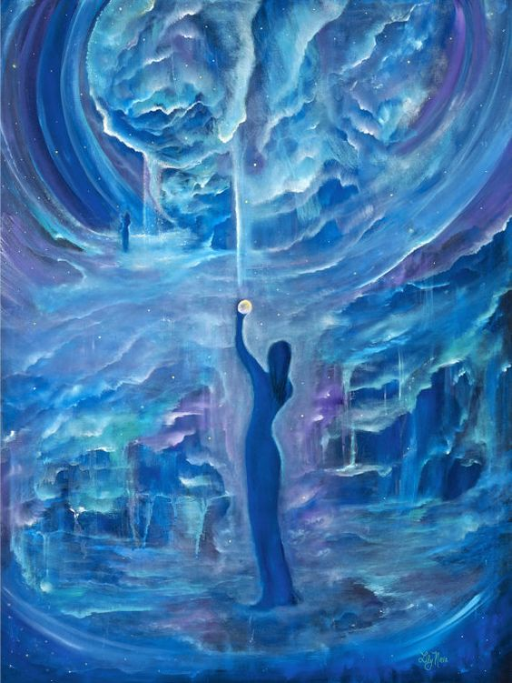 Quantum Awakening Limited Edition Giclee 30x40 by LilyNavaGallery, $600.00
