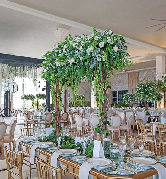 The Grand Moon Palace Wedding Venues Sun Terrace Luxury White Reception Decorations Moon Palace Weddings Moon Palace Cancun Wedding Grand Moon Palace
