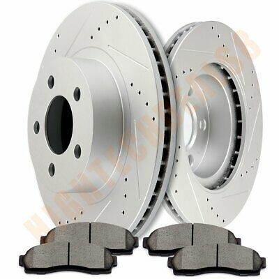 Front Calipers and Rotors /& Pads For Chrysler Sebring Stratus Eclipse Galant