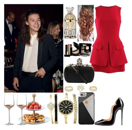 """""""Attending the Clive Davis Pre-Grammy Gala with Harry"""" by zandramalik ❤ liked on Polyvore featuring Charlotte Russe, Alexander McQueen, Christian Louboutin, LSA International, Lipsy, Chanel, Casetify and Wedgwood"""