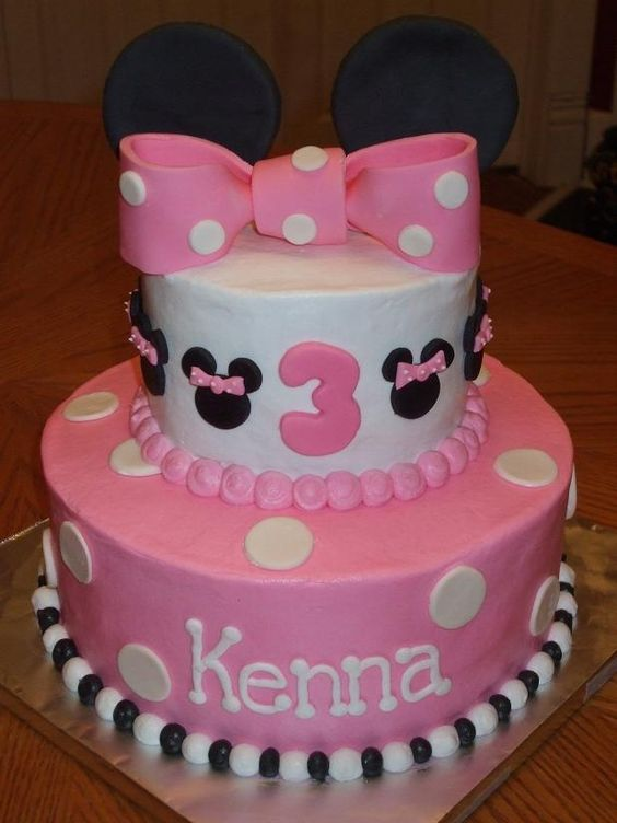 Minnie Mouse cake - Carissa's personal fave design