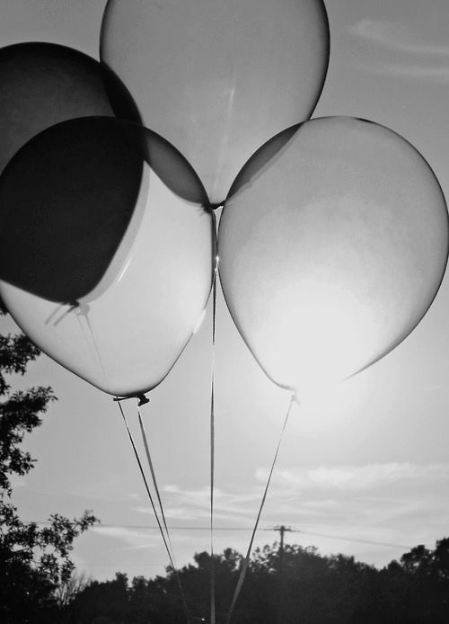 'Love is like a balloon, easy to blow up and fun to see grow, but hard to let go and watch fly away...' °