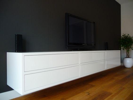 Exclusief hoogglans wit design dressoir tv meubel interieur pinterest ontwerp en tvs - Treku meubels ...