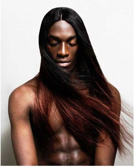 Astounding Straight Long Hair Black Men And Straight Hair On Pinterest Hairstyle Inspiration Daily Dogsangcom