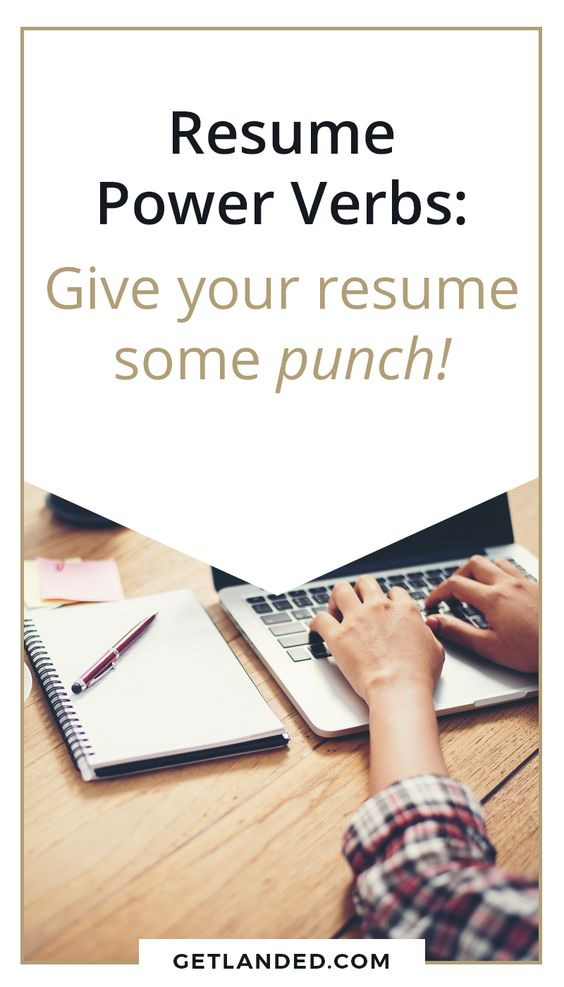 Resume Power Verbs   Easily Swap Out   Power Verbs Resume  Resume Power Verbs