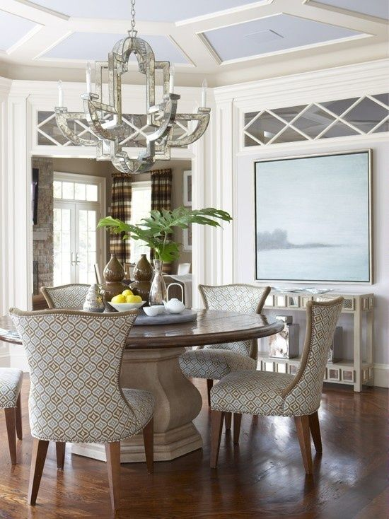 Gorgeous Dining Room. Love the chairs