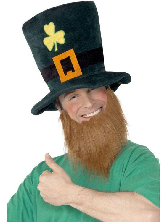Halloween St. Patty's Leprechaun Hat w Beard