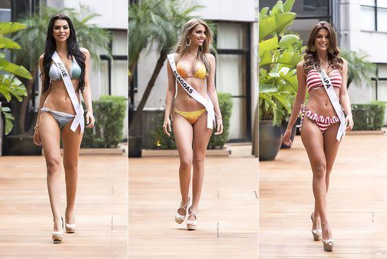 Candidatas a Miss Brasil 2015 desfilam de biquíni antes do concurso. Veja mais fotos das gatas no Blog!