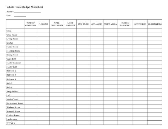 Worksheet House Budget Worksheet household budget worksheet and worksheets printable whole house worksheet