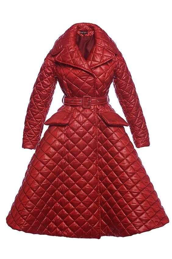 Ginger Jackie стеганное пальто