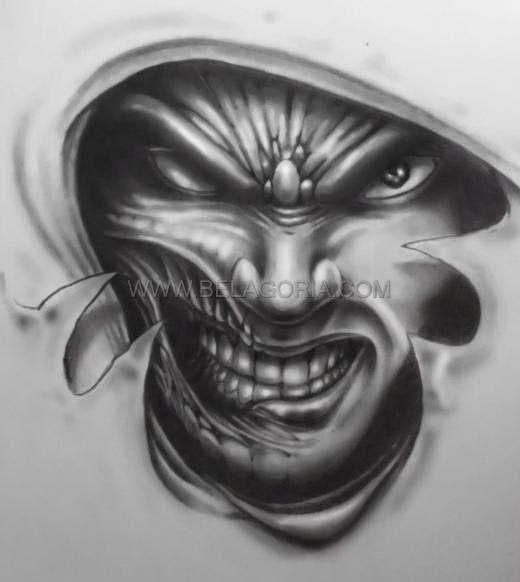 Disenos De Demonios Y Diablos Tatuaje De Horror Diseno De Tatuaje De Calavera Tatuajes Malvados