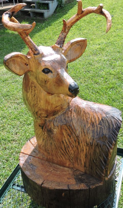 Carving deer and chainsaw carvings on pinterest